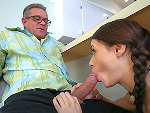 Lucie Kline Takes Her Daddy's Friend's Cock In Her Ass image 2